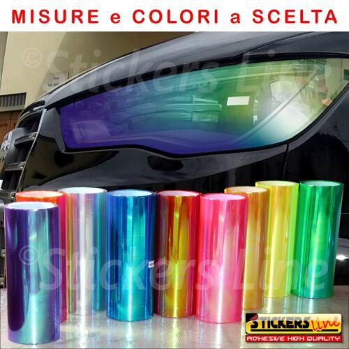 Pellicola adesiva colorata CAMALEONTE oscurante vetri fanali fari luci auto moto