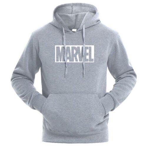 Sweat à capuche Sweatshirts Marvel lettre impression Fashion homme Sweats à capuche-Neuf