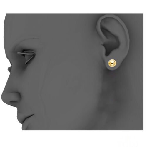Details about  /6mm 14K Yellow Gold Ball Stud Earrings