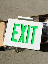 Exit Sign Dual Lite Sempra Sedgw Led Green Die Cast Double Face Ac