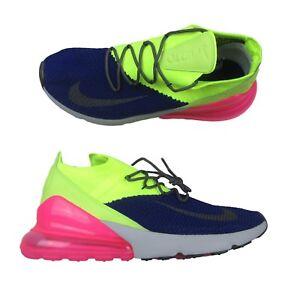 6528f03bdbe4 Nike Air Max 270 Flyknit Regency Purple Grey Volt AO1023 501 Mens ...