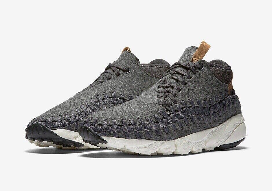 Nike Air Footscape Woven Chukka SE SZ 11 857874-002 Dark Grey Tan NEW IN BOX