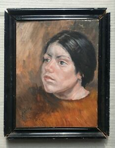 FRANCIS-RUDOLPH-1921-2005-original-signed-oil-painting-female-portrait-1977