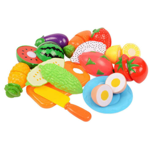 Cut Food Fruits And Vegetables Mushrooms Pretend Play Toys For Children Kids new