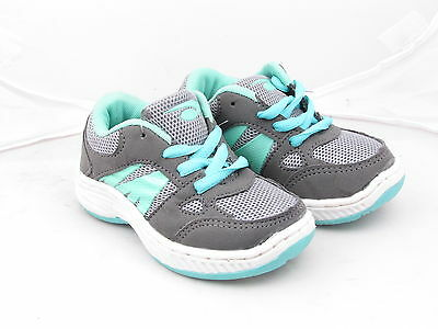 Toddler Boys CMX 12-0414B Grey Green Lace Up Lightweight Trainers Size UK 6-10