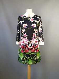 Ted fleurs Robe tropicales Uk cheminée col Baker tunique 1 8 à Taille à gxHwgfar