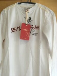 Energie-Boys-Top-White-Age-14-long-sleeved-crew-neck