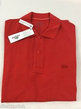 Lacoste Men's Polo Shirt Brand New with Tags Red Pompier Size EU 6 US L