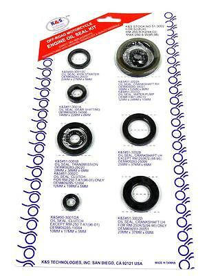 Suzuki RM 250 1989 1990 1991 1992 1993 Full Engine Oil Seal Set Kit