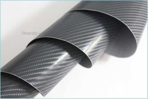 4d fibra de carbono brillante con textura Lámina de vinilo adhesivo sin aire