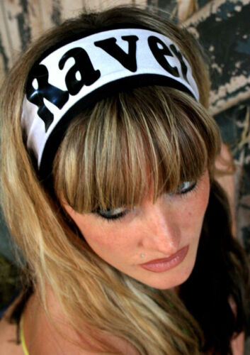 ANY COLOURS Funki-B printed head band hair rave dancewear neon uv PLUR clubwear