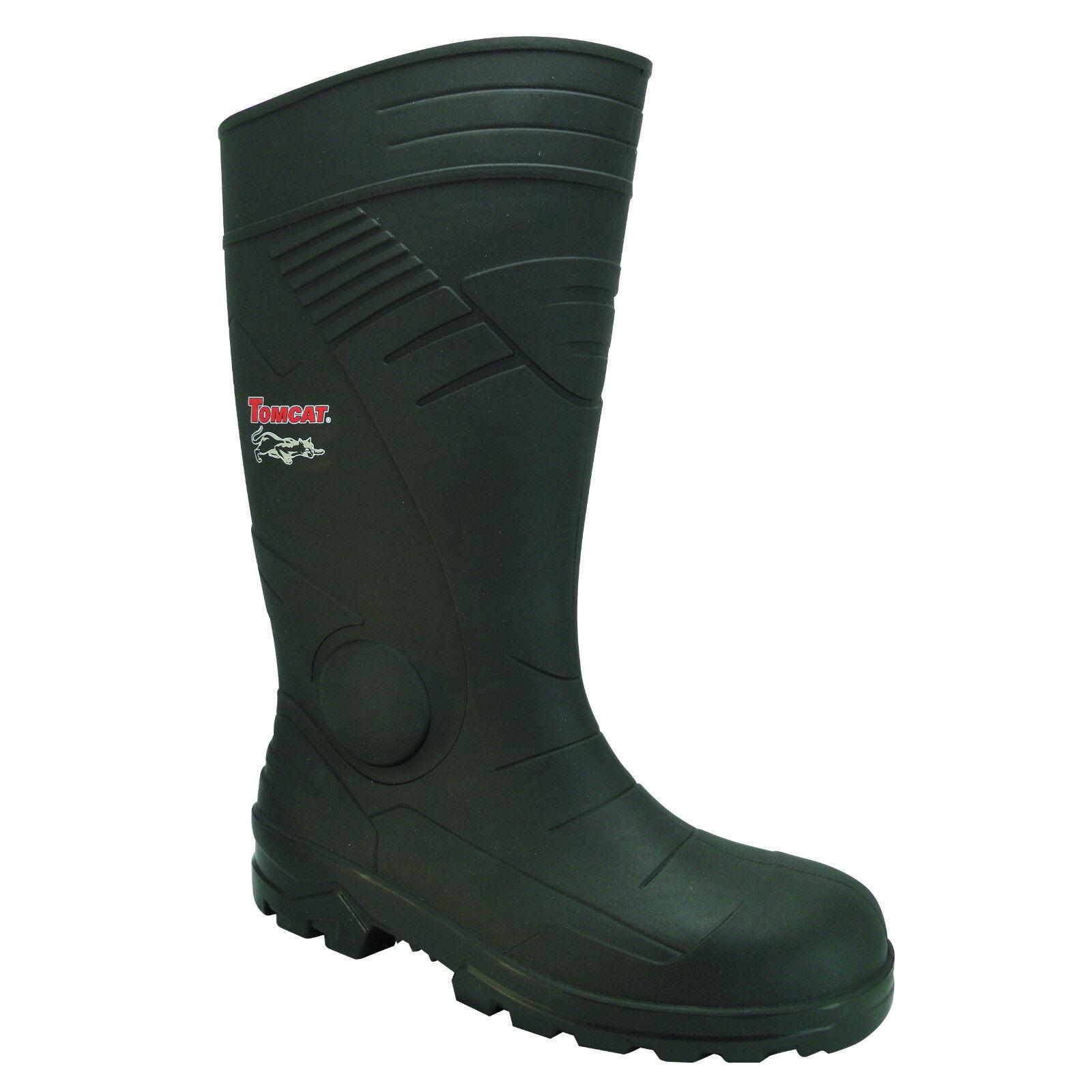 Tomcat Washington TC200A S5 Mens Black Wellington Steel Toe Cap Safety Wellington Black Boots PPE 56e467
