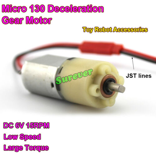 DC 5V 6V 15RPM Slow Speed Large Torque Mini 130 Gearbox Gear Motor DIY Robot Car