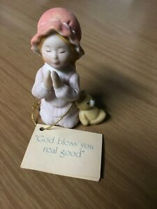 1983-Holly-Hobbie-034-God-Bless-You-034-Figurine-Miniatures-Classics-Series-2