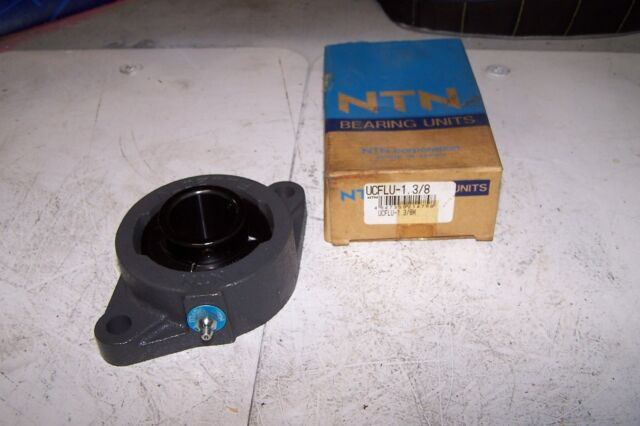 "NTN UCFLU-1.3//8M Flange Bearing,2-Bolt,Ball,1-3//8/"" Bore"