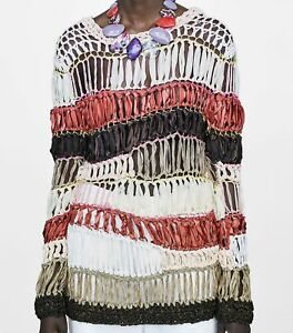 Details about Zara Limited Edition Striped Sweater Jumper Sweater with Stripes Size S M show original title