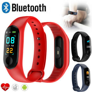 Bluetooth Smart Watch Heart Rate Blood Pressure Monitor Sports Wrist Bracelet
