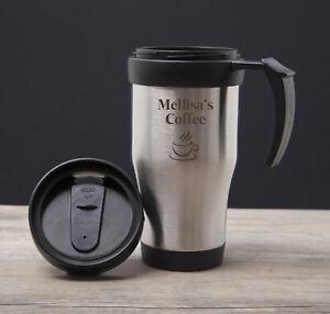 Personalised Name Initial Thermal Travel Mug Cup Flask ...