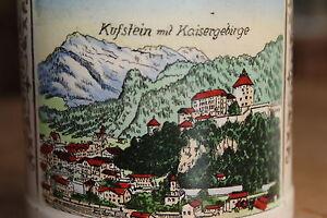 Antiker-Bierkrug-Villeroy-amp-Boch-Kufstein-Andenken-mit-Kaisergebirge