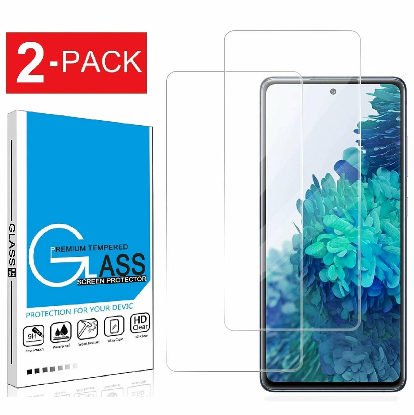 Bear Village Screen Protector for Galaxy A20 1 Pack 9H Scratch Resistant Ultra Clear Tempered Glass Screen Protector Film for Samsung Galaxy A20