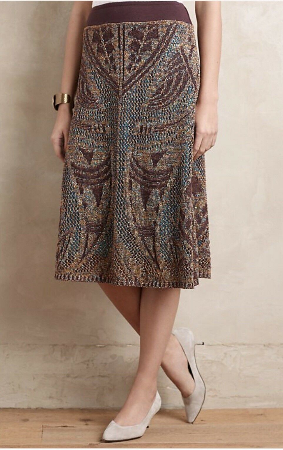 Anthropologie Lumi Midi Sweater Skirt by Cecilia Prado XS  198 NWT Sz XS Holiday