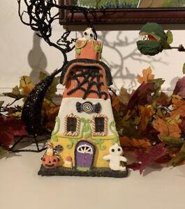 Halloween-Clay-Gingerbread-Light-Up-Haunted-House-Candy-Corn-Decor-Ghost-Pumpkin