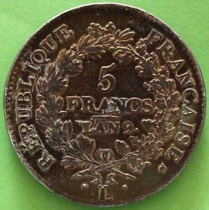 FRANCE-5-FRANCS-UNION-ET-FORCE-AN-9-L-ARGENT