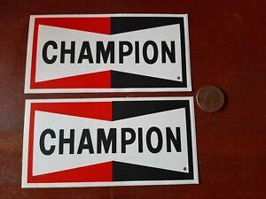 2-NOS-VINTAGE-Champion-Spark-Plugs-AUTOMOTIVE-DRAG-RACE-HOT-ROD-DECAL-STICKER