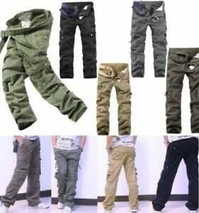 Mens-Military-Camou-Tactical-Casual-Work-Trousers-Cargo-Army-Combat-Pants-Lot