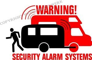 Details Zu Security Alarm Sticker Aufkleber Wohnwagen Camper Caravan Wohnmobil Camping Neu