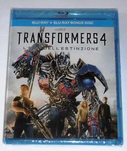 2-BLU-RAY-FILM-ROBOT-TRANSFORMERS-4-ESTINZIONE-OPTIMUS-PRIME-DINOBOT-MEGATRON-g1
