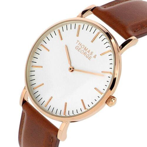 Thomas et George Men/'s Watch-chesterfield marron-Bargain cadeau pour Noël