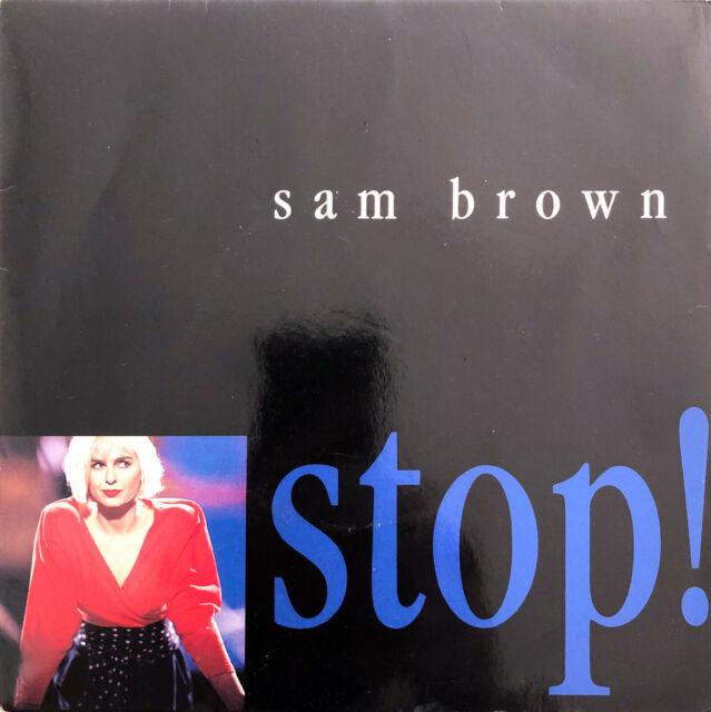 """Sam Brown 7"""" Stop! - France (VG/EX)"""