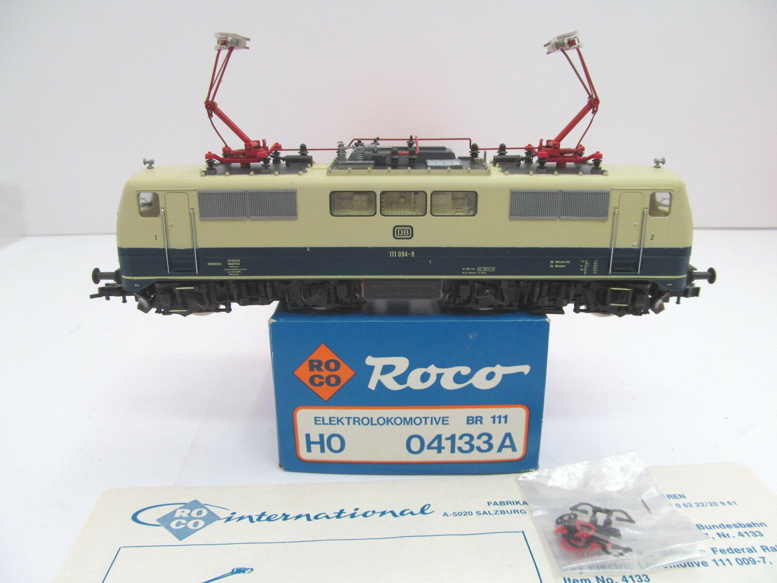 Mes-44198 04133 roco a h0 e-Lok DB 111 094-9 muy buen estado, función examinado