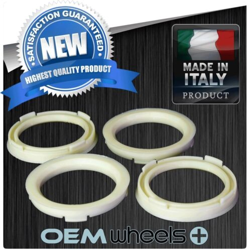 NEW POLYCARBONATE HUB CENTRIC HUBCENTRIC RINGS FOR 56.1 ID CAR TO 73.1 OD WHEELS