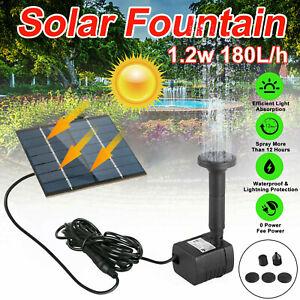 Solar Power Fountain Submersible Floating Water Pump Bird Bath Pond Garden Decor