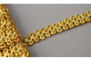 Galon-dore-galon-Or-1-cm-guirlande-passementerie-costume-decoration-ornement