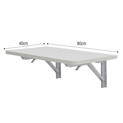 Wall-mounted Drop-leaf Table Folding Floating Laptop Desk Workstation Space Save