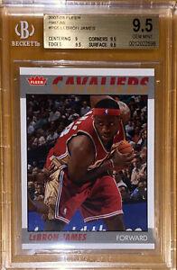 Pop 3! 🔥💎2007-08 LeBron James FLEER 1987-88 RETRO #66 BGS 9.5 PSA prizm Lakers