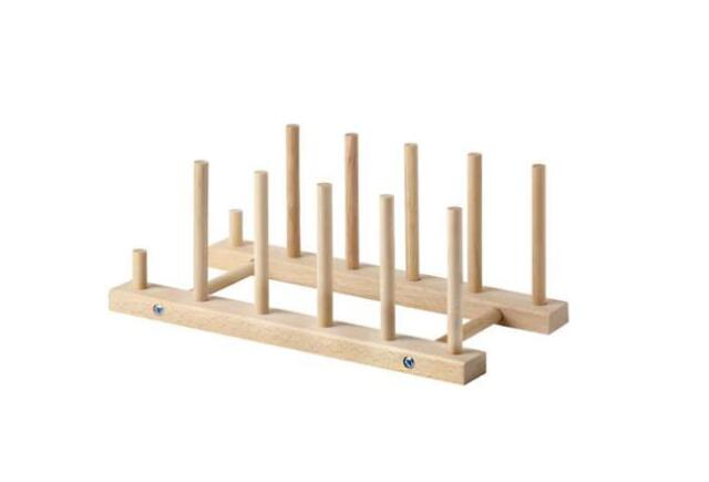 Ikea Plate holder NYPLOCKAD Beech Wooden UK-B786  sc 1 st  eBay & 2 X IKEA Nyplockad Beech Wooden Plate Holders | eBay