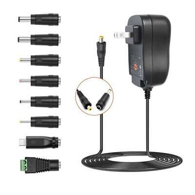 30W Universal Adapter AC to DC Multi Voltage 3V 4.5V 5V 6V 7.5V 9V 12V Switching Power Supply for Household Electronics MAX 2A//2000mA