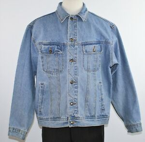 Vintage Wrangler Rugged Wear Men S 1980 S Denim Trucker