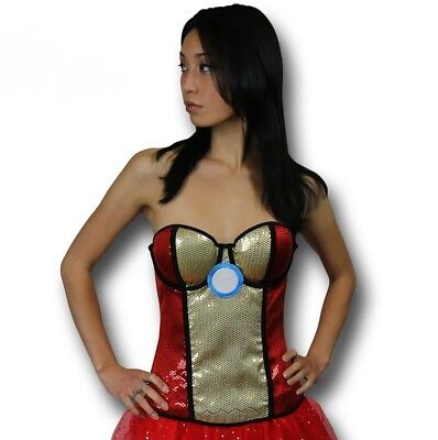 Rescue Iron Man Sequin Corset Marvel Superhero Halloween Adult Costume Accessory