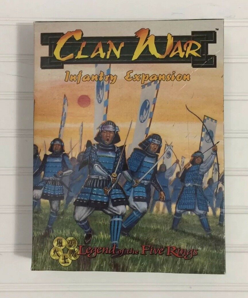 AEG Clan War Infantry Expansion Legend Of The Five Rings Metal Figures
