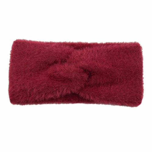 Details about  /Winter Women Handmade Knotted Fluffy Imitation Mink Cashmere Solid Hairband