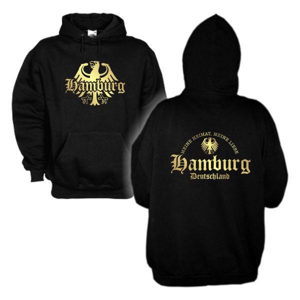 Kapuzenpullover Hamburg meine Heimat meine Liebe Hoodie Kapuzensweat (SFU08-12d)