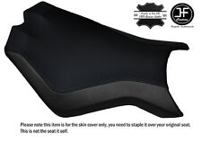 BLACK STITCH CUSTOM FITS KTM SUPERDUKE 990 R 07-14 FRONT SEAT COVER DESIGN 2