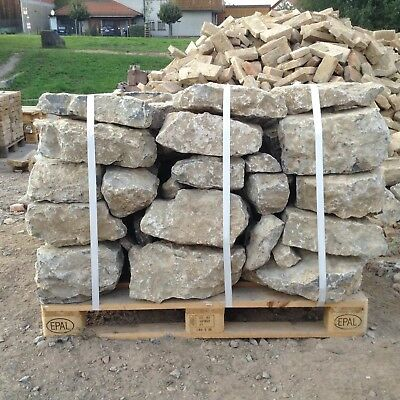 1,3t Trockenmauersteine € 230/t Natursteine Mauersteine Muschelkalk Ruinenmauer Chinesische Aromen Besitzen