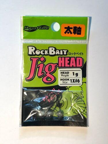 JDM LRF /& Perch AQUAWAVE ROCK BAIT Jig Heads 1g SIZE 6 4 Super Sharp Hooks