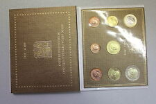 VATICANO 2011 SERIE DIVISIONALE 8 MONETE EURO FDC in FOLDER UFFICIALE ORIGINALE